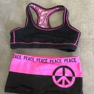 Sports bra and underwear